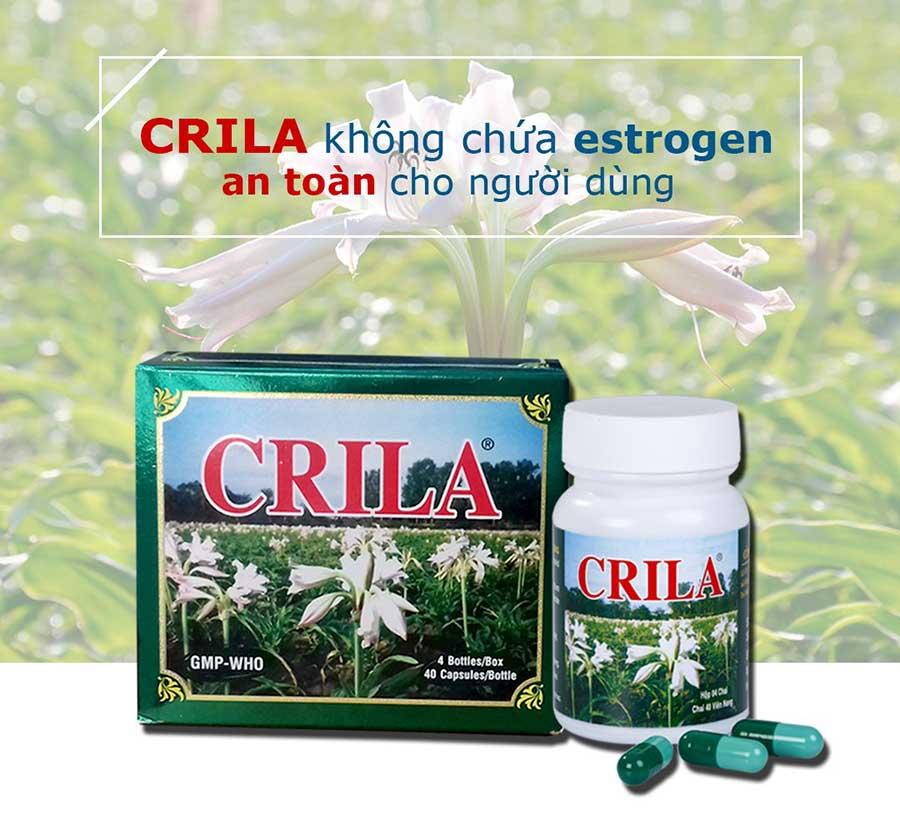 Hình chụp lọ thuốc Crila và Vỏ hộp