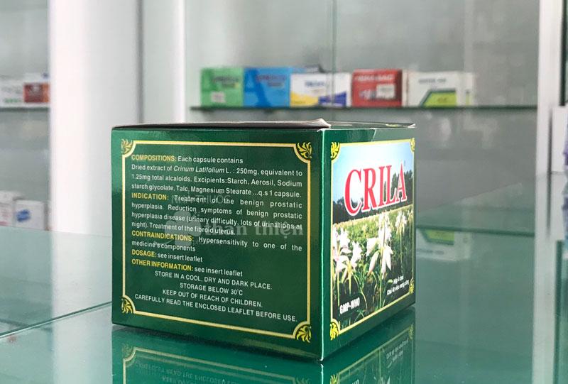 Hình ảnh chụp Thuốc Crila (mặt sau công sản phẩm)