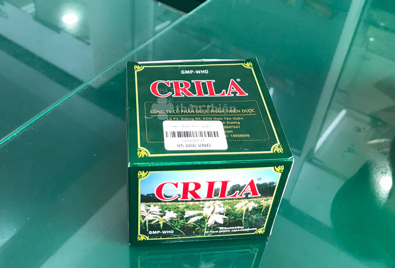 Hình ảnh chụp Thuốc Crila và giá bán trên sản phẩm