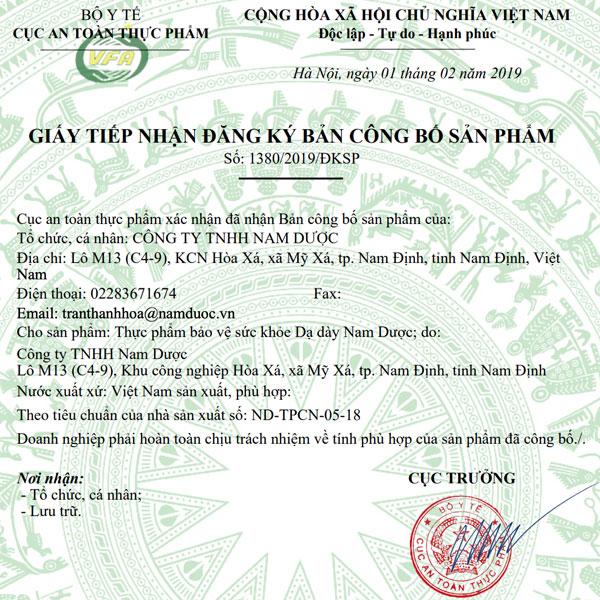 XNCB Dạ Dày Nam Dược 2019