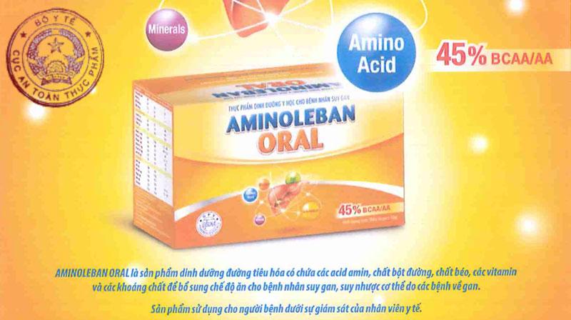 Aminoleban Oral, bổ sung khoáng chất cho bệnh nhân suy gan, suy nhược cơ thể