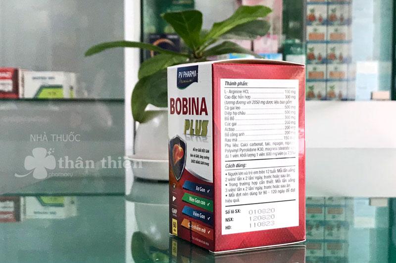 Bobina Plus, hỗ trợ giải độc gan, tăng cường chức năng gan