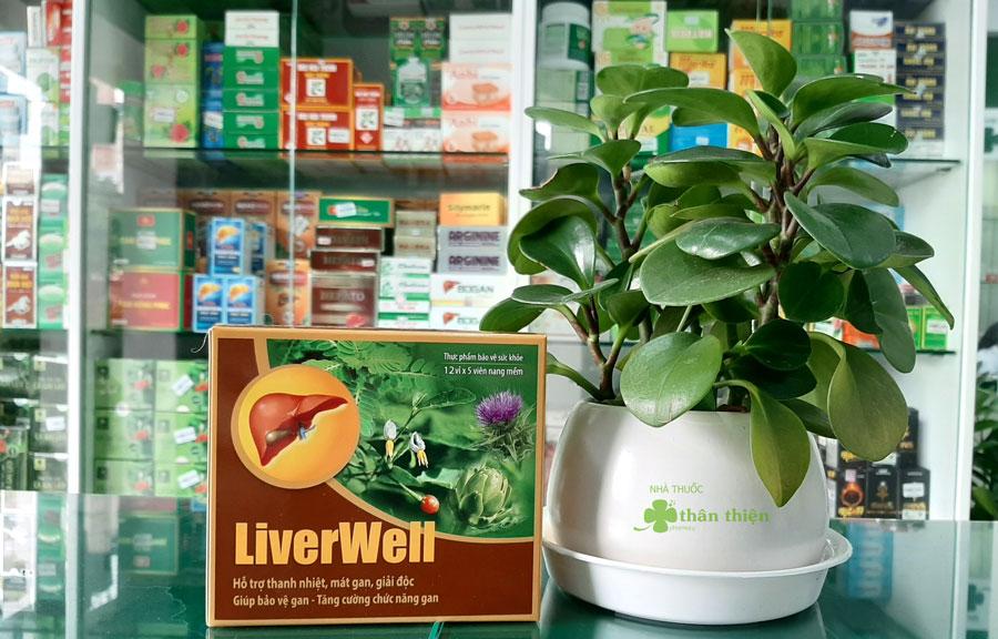 Hình ảnh: Sản phẩm giải độc gan Liverwell chụp tại Nhà Thuốc Thân Thiện