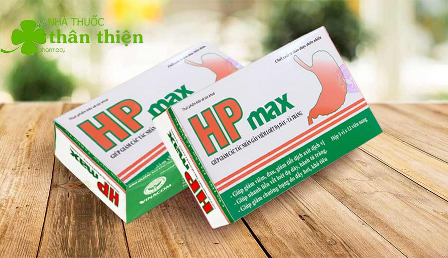 Hp Max, hỗ trợ làm giảm các tác nhân gây viêm loét dạ dày