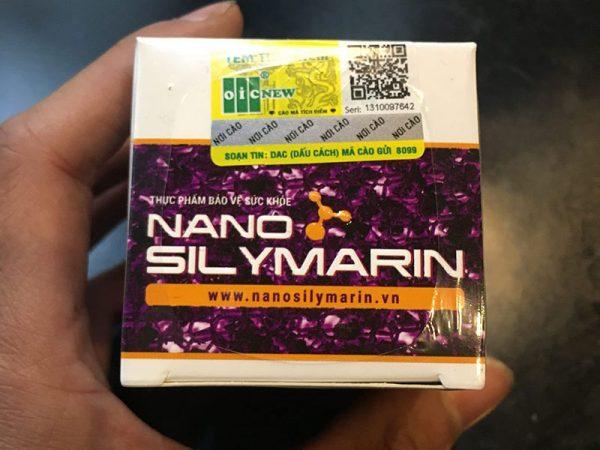 Hình chụp mã cào Nano Silymarin OIC