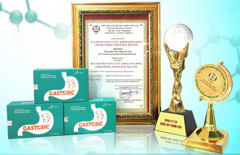 """Huy chương vàng """"Vì sức khỏe cộng đồng 2017 của Gastosic"""