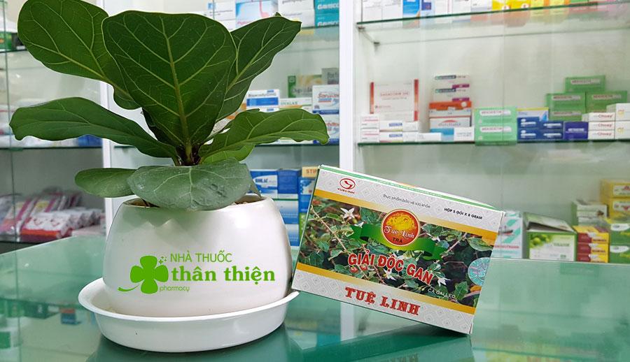 Hình chụp Trà Giải Độc Gan Tuệ Linh tại Nhà Thuốc Thân Thiện!