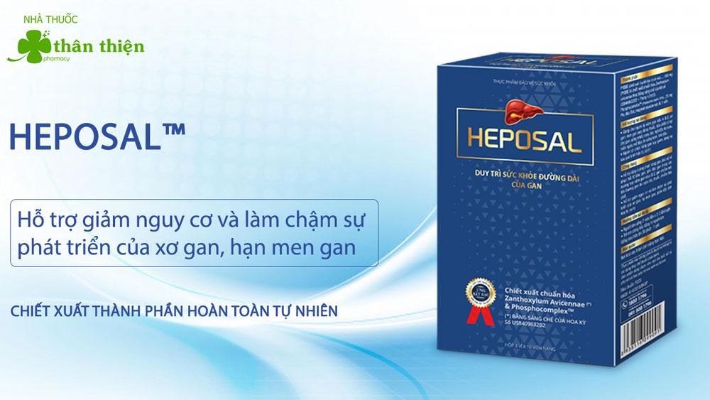 Sản phẩm Heposal bán chính hãng tại một số nhà thuốc trên toàn quốc