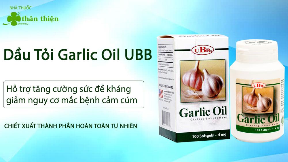 Dầu Tỏi Garlic Oil UBB có bán chính hãng tại Nhà Thuốc Thân Thiện