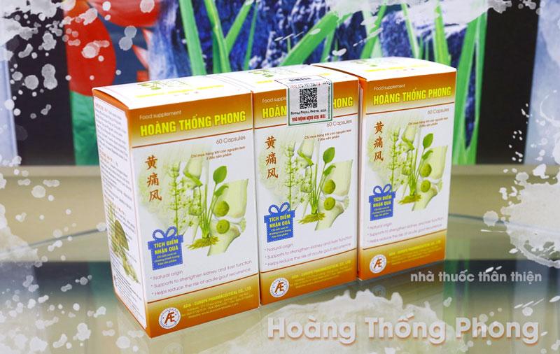 Hoàng Thống Phong, hỗ trợ làm giảm các triệu chứng đau nhức do gout