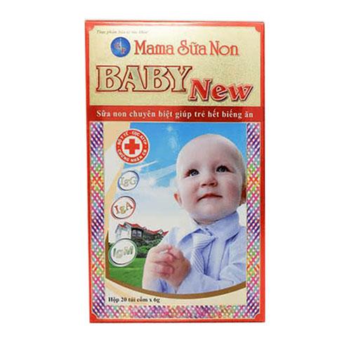 Mặt trước hộp Mama Sữa Non Baby New