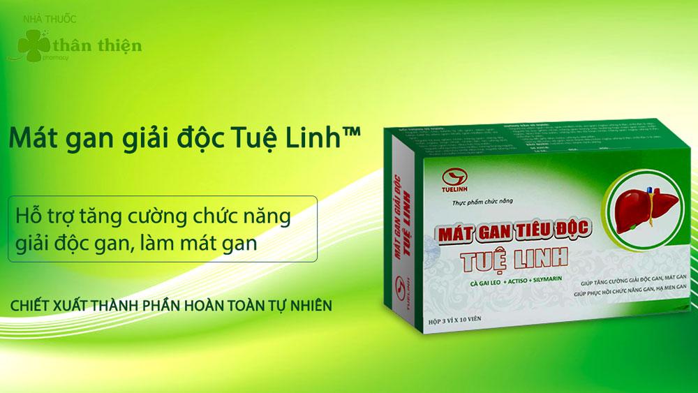 Sản phẩm Mát Gan Tiêu Độc Tuệ Linh có bán chính hãng tại Nhà thuốc Thân Thiện