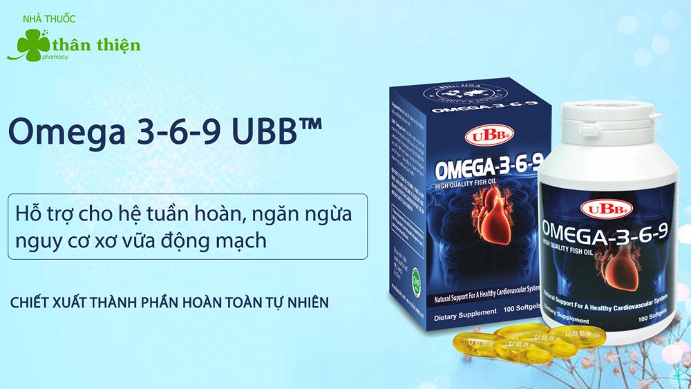 Omega 3-6-9 UBB chính hãng có bán tại Nhà Thuốc Thân Thiện