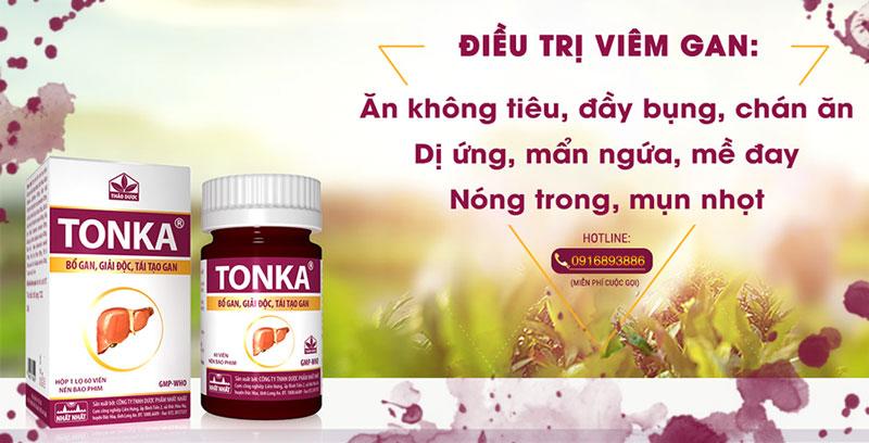 Thuốc Tonka, chỉ định trong điều trị viêm gan B, giải độc gan