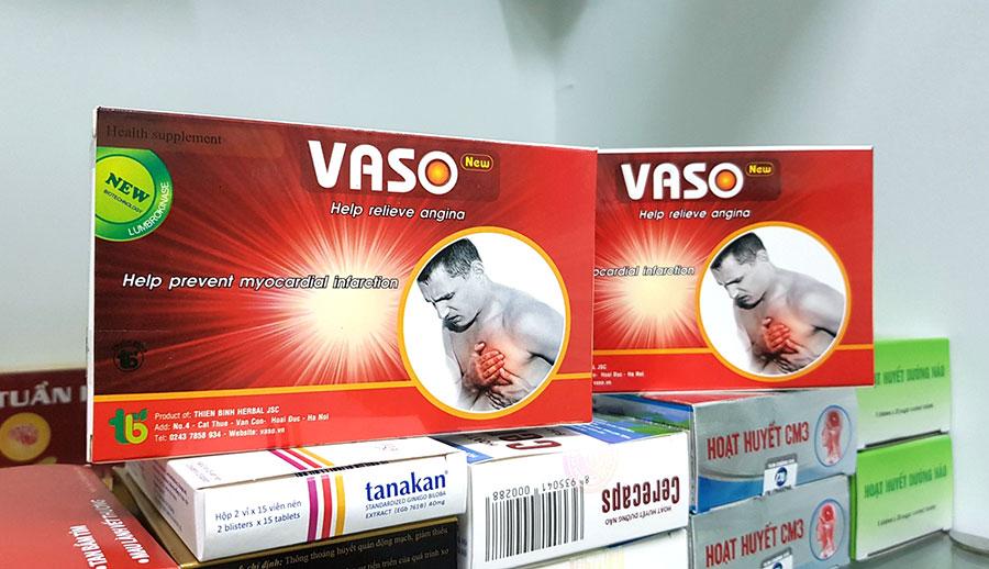 Hình chụp Vaso New bán tại Nhà Thuốc Thân Thiện