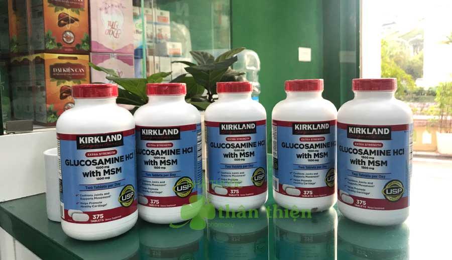 Hình chụp Kirkland Glucosamine HCl 1500 mg With MSM 1500 mg tại Nhà Thuốc Thân Thiện
