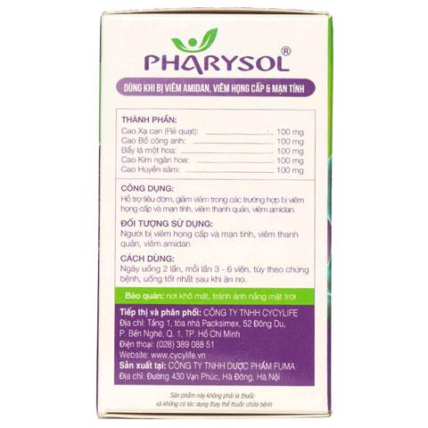 Thành phần Pharysol