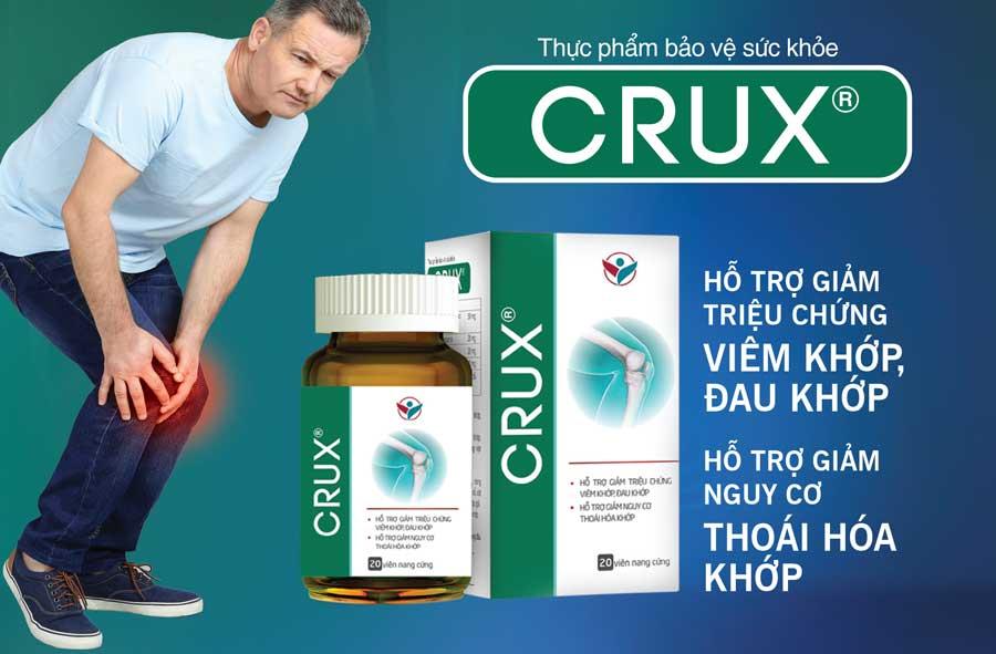 Crux, hỗ trợ làm giảm nguy cơ thoái hóa khớp, cứng khớp