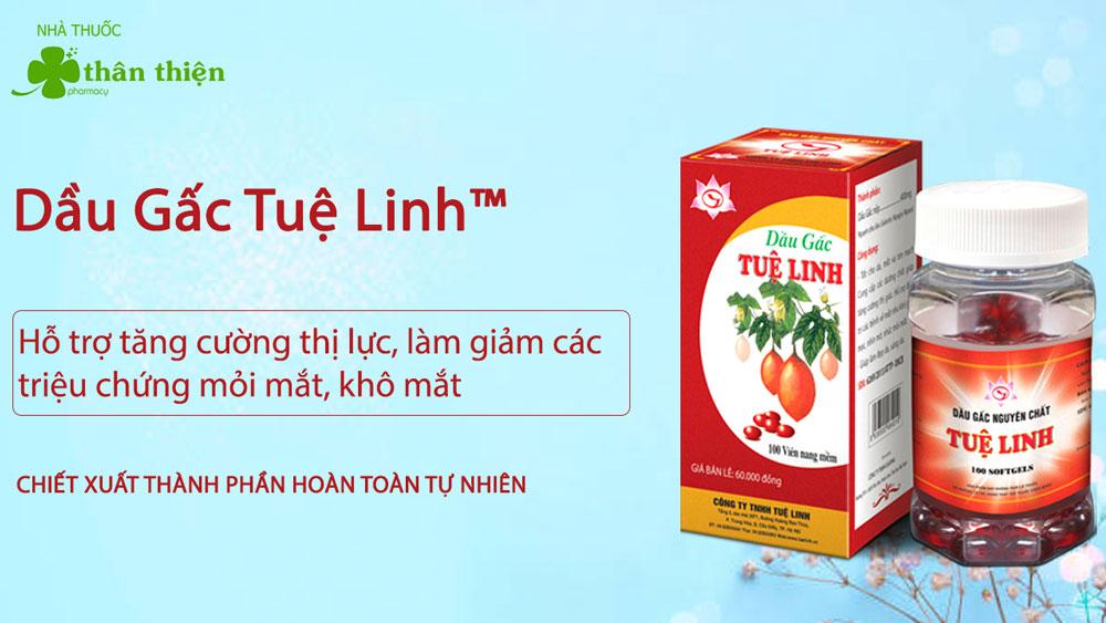 Sản phẩm Dầu Gấc Tuệ Linh có bán chính hãng tại Nhà Thuốc Thân Thiện