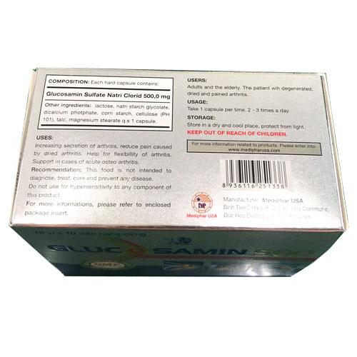 Công dụng Glucosamin 500
