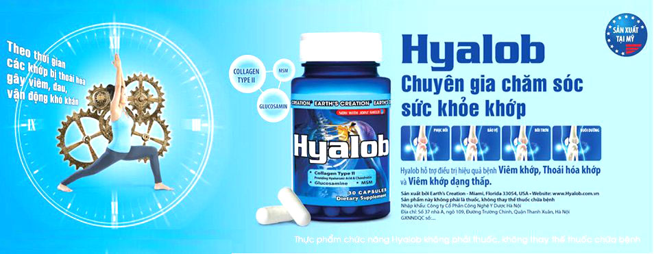 Sản phẩm Hyalob có bán chính hãng hầu hết tại các nhà thuốc