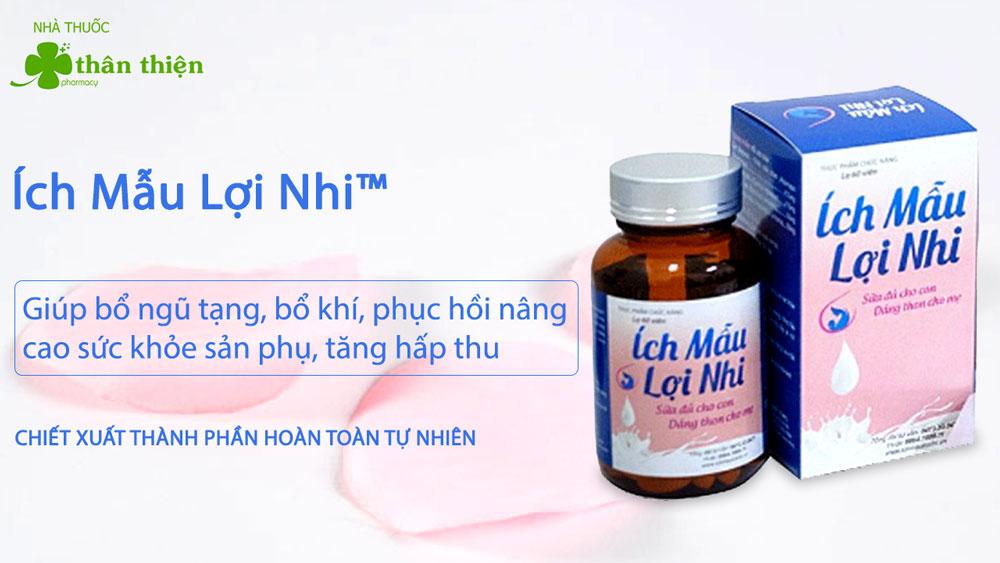Ích Mẫu Lợi Nhi có bán trực tiếp tại các nhà thuốc trên toàn quốc
