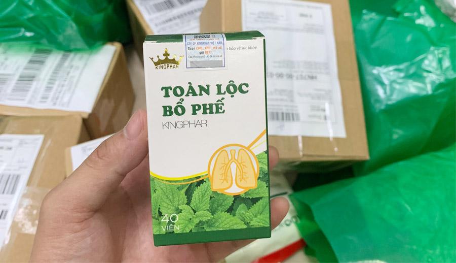 Sản phẩm chính hãng Toàn Lộc Bổ Phế tại nhà thuốc