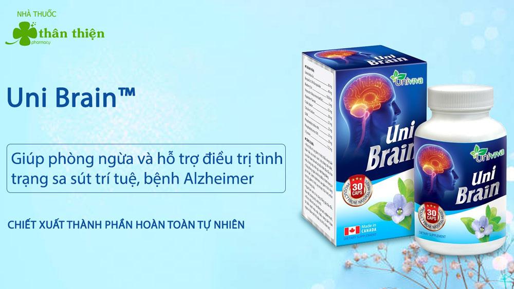Uni Brain có bán chính hãng tại hầu hết các nhà thuốc trên toàn quốc
