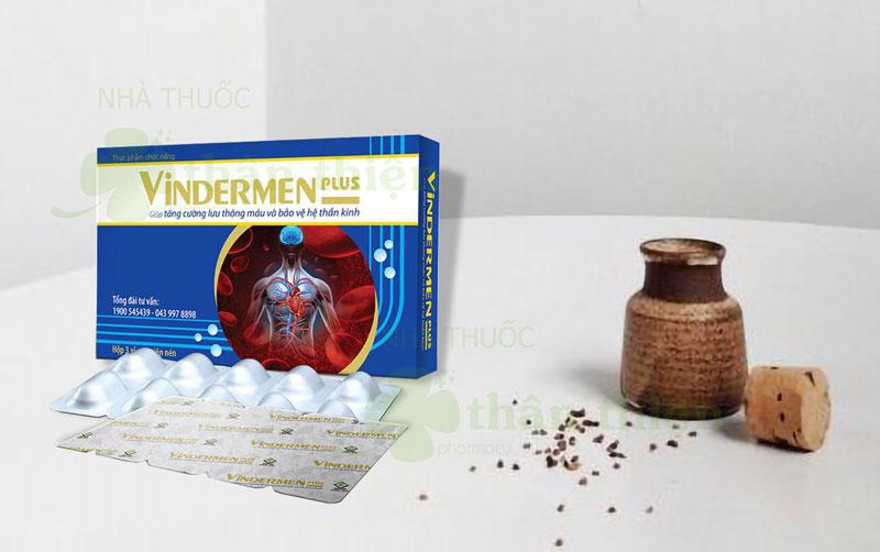 Vindermen Plus, hỗ trợ giảm đau dây thần kinh, đau mỏi lưng và vai gáy