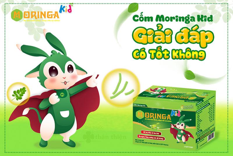 Moringa Kid, giúp hỗ trợ ổn định tiêu hóa, kích thích ăn ngon, giảm táo bón, nâng cao sức đề kháng.