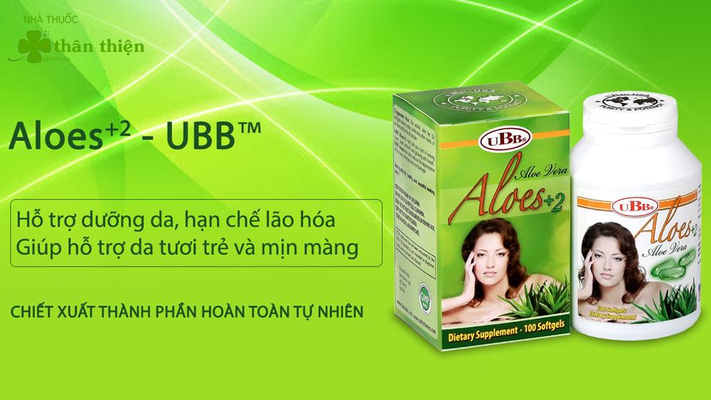 Sản phẩm Aloes+ 2 của UBB hiện đang có bán chính hãng tại các nhà thuốc lớn trên toàn quốc