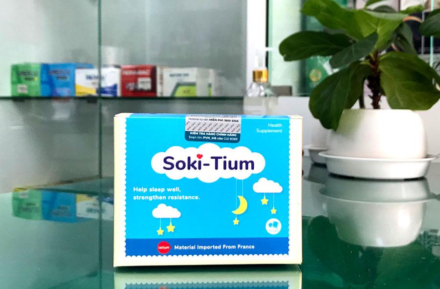 Soki-Tium, hỗ trợ làm giảm các triệu chứng khóc đêm, khó vào giấc