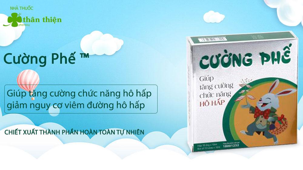 Siro ho Cường Phế có bán chính hãng tại Nhà Thuốc Thân Thiện