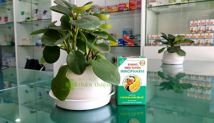 Hình chụp sản phẩm Khang Niệu Tuyến Innopharm tại nhà thuốc!