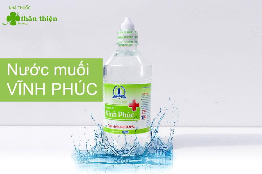 Sản phẩm Nước Muối Vĩnh Phúc hiện có bán ở các nhà thuốc, quầy thuốc chính hãng