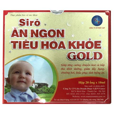 Hộp Siro Ăn Ngon Tiêu Hóa Khỏe Gold