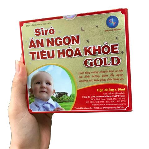 Trên tay hộp Siro Ăn Ngon Tiêu Hóa Khỏe Gold
