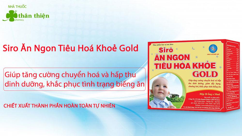 Siro Ăn Ngon Tiêu Hóa Khỏe Gold bán chính hãng tại Nhà Thuốc Thân Thiện