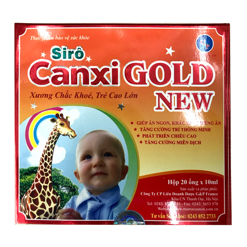 Hộp Siro Canxi Gold New