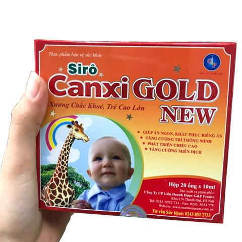 Trên tay hộp Siro Canxi Gold New
