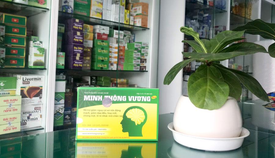 Minh Thông Vương, hỗ trợ tăng tuần hoàn máu, giảm đau đầu, chóng mặt, mất ngủ