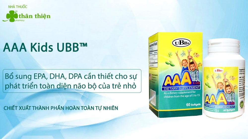 Sản phẩm AAA Kids UBB có bán chính hãng tại Nhà Thuốc Thân Thiện