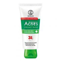 Kem Rửa Mặt Rohto Acnes Creamy Wash