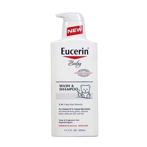 Sữa Tắm Gội Trẻ Em Eucerin Baby Wash và Shampoo