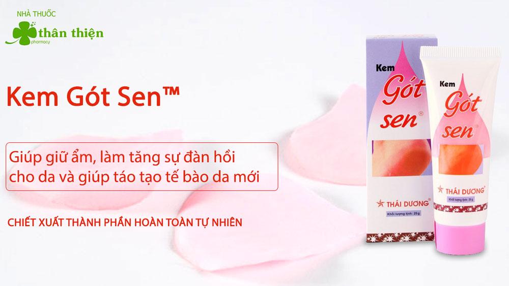 Sản phẩm Kem Gót Sen Thái Dương có bán chính hãng tại Nhà Thuốc Thân Thiện