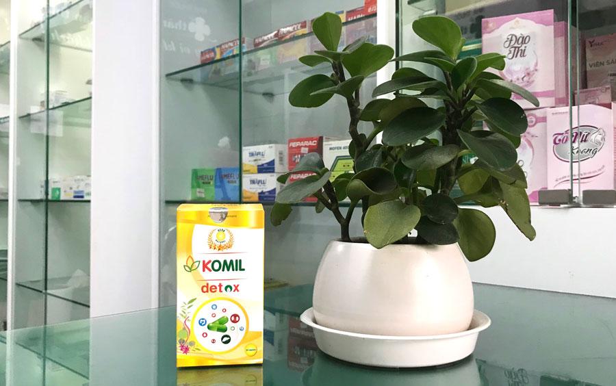 Komil Detox, hỗ trợ tăng cường chức năng của hệ tiêu hóa, làm giảm các triệu chứng ăn uống không tiêu