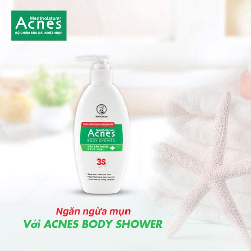 Ngăn ngừa mụn với Acnes Body Shower