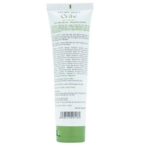 Công dụng Sữa rửa mặt Oribe Facial Cleanser Bluedes & Vitamin E