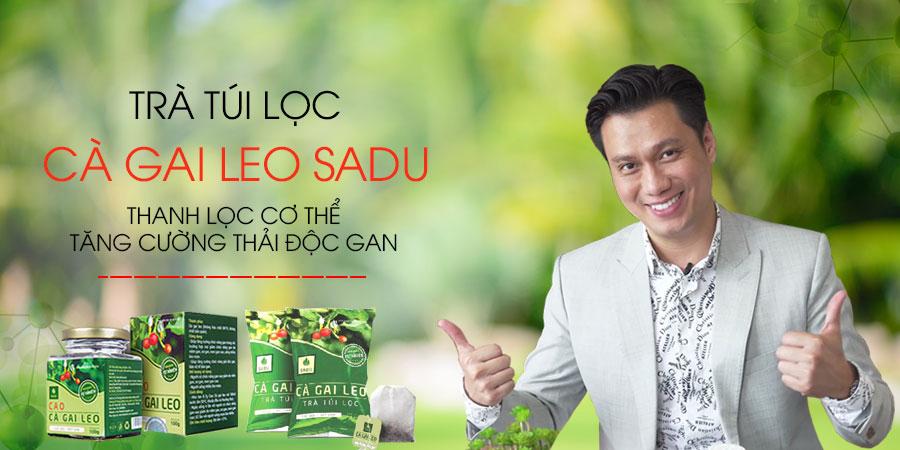 Banner Trà Túi Lọc Cà Gai Leo Sadu - Diễn Viên Việt Anh