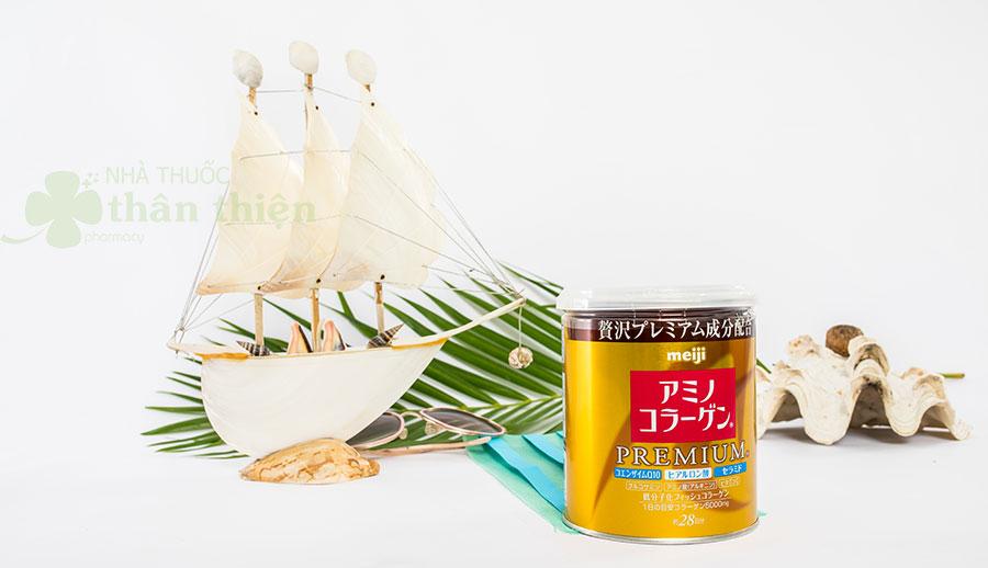 Hình chụp sản phẩm bột Amino Collagen Premium MEIJI!